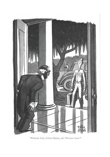 Drawing - Welcome Home by Peter Arno
