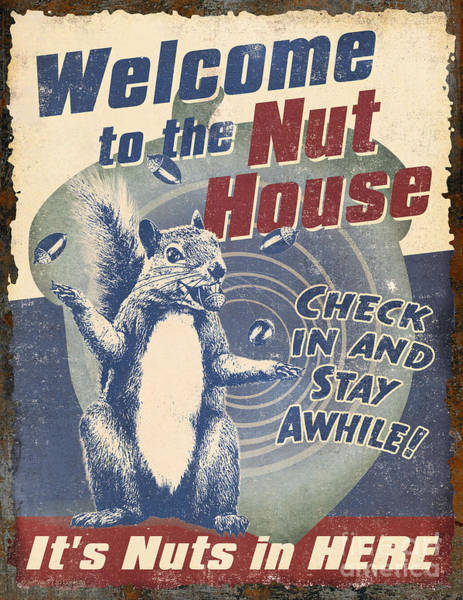 Painting - Welcome Nut House by JQ Licensing