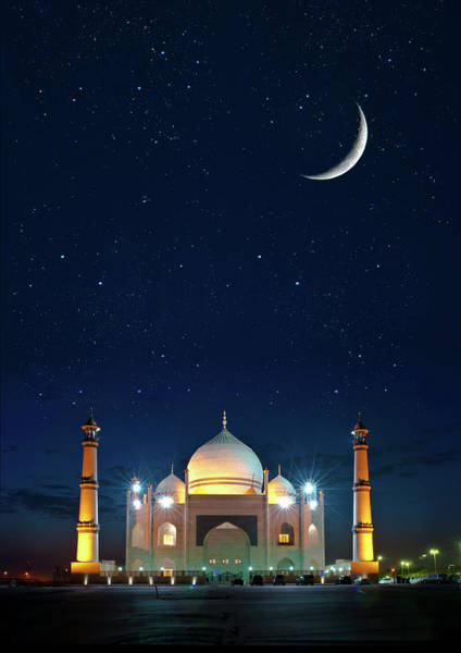 Mosque Photograph - Welcome Ramadan by Shahbaz Hussain's Photos