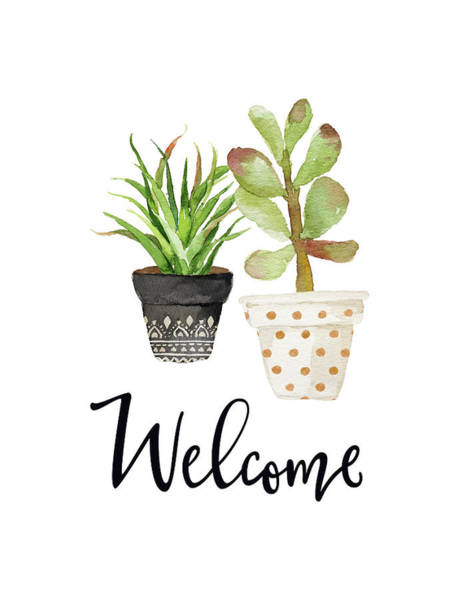 Wall Art - Painting - Welcome Succulents by Tara Moss