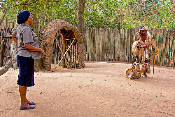 Greeters Photograph - Welcome To A Historical Look At A Zulu Village Named Dumazulu-south Africa by Ruth Hager