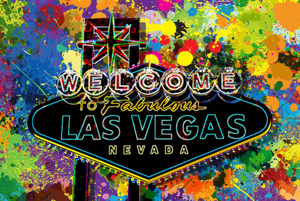 Digital Design Digital Art - Welcome To Las Vegas by Gary Grayson