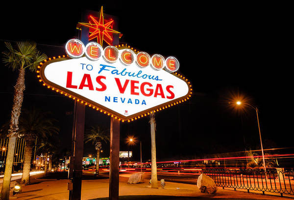 Photograph - Welcome To Las Vegas - Neon Sign by Gregory Ballos
