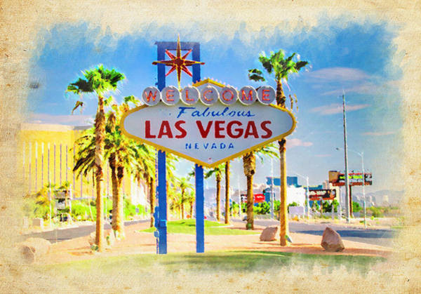 Fabulous Photograph - Welcome To Las Vegas by Ricky Barnard