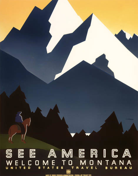 Brochure Drawing - Welcome To Montana by Mountain Dreams