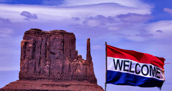 Gay Flag Photograph - Welcome To Monument Valley by Garry Gay