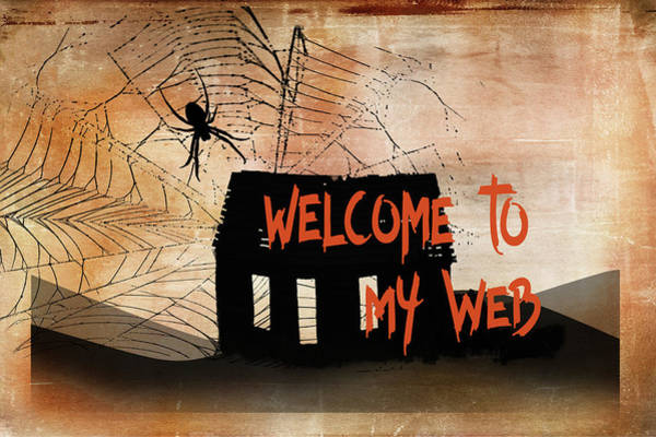 Wall Art - Painting - Welcome To My Web by Ramona Murdock