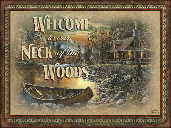 Painting - Welcome To Our Neck Of The Woods by JQ Licensing