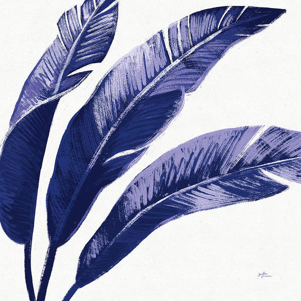 Wall Art - Painting - Welcome To Paradise Xi Indigo by Janelle Penner