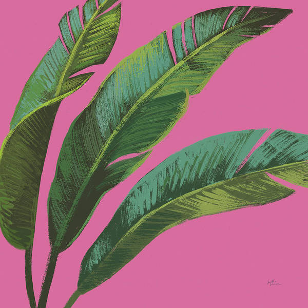 Wall Art - Painting - Welcome To Paradise Xi On Pink by Janelle Penner