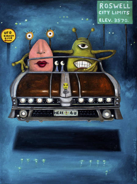 Painting - Welcome To Roswell by Leah Saulnier The Painting Maniac