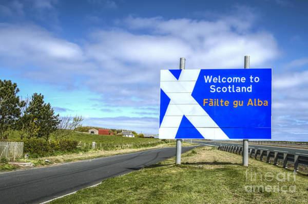 Scotland Wall Art - Photograph - Welcome To Scotland by Evelina Kremsdorf