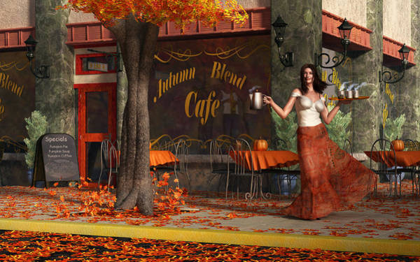 Digital Art - Welcome To The Autumn Blend Cafe by Daniel Eskridge