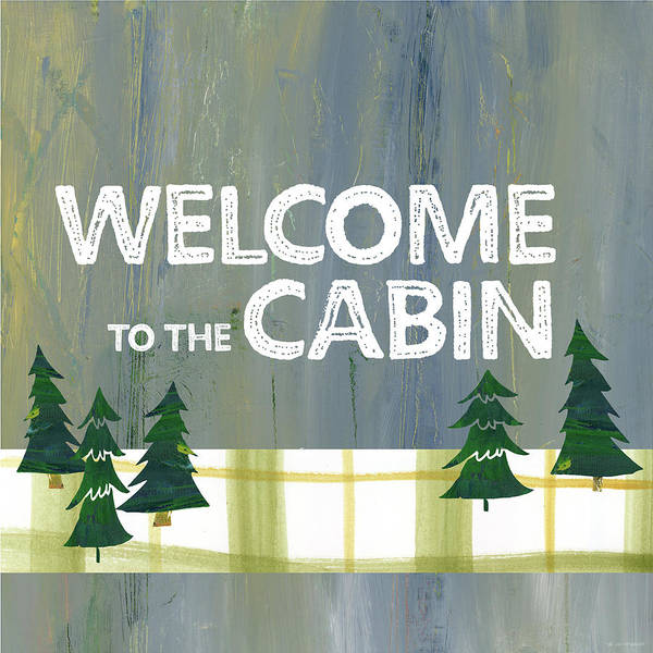 Camping Wall Art - Painting - Welcome To The Cabin by Pamela J. Wingard