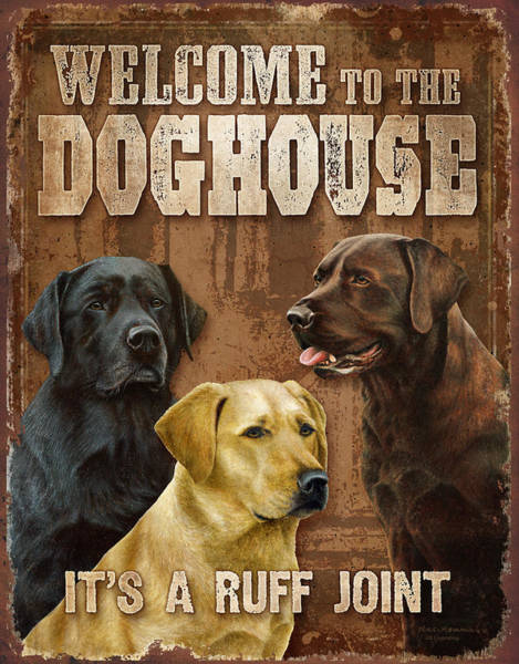 Painting - Welcome To The Dog House by JQ Licensing