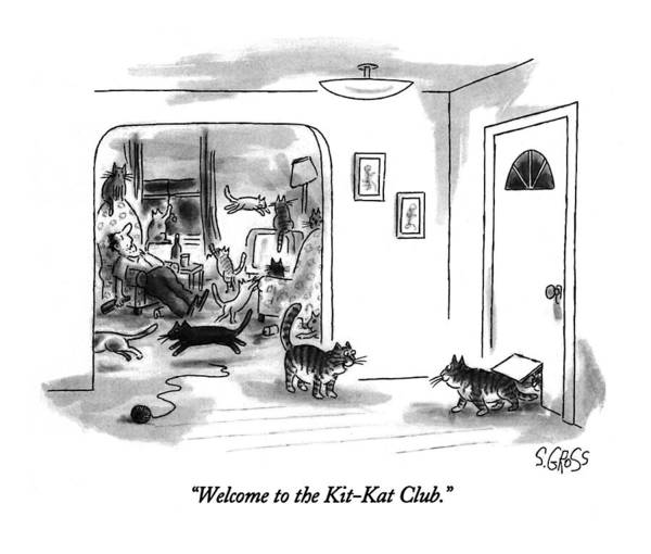 Welcome Drawing - Welcome To The Kit-kat Club by Sam Gross