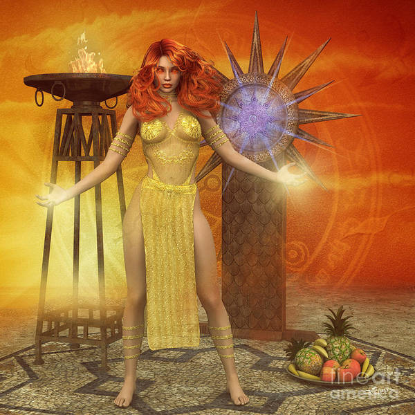 Digital Art - Welcoming The Sun by Jutta Maria Pusl