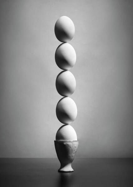Egg Photograph - Well Balanced Diet (version 2) by Victoria Ivanova
