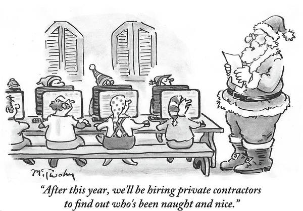 Office Furniture Drawing - We'll Be Hiring Private Contractors by Mike Twohy