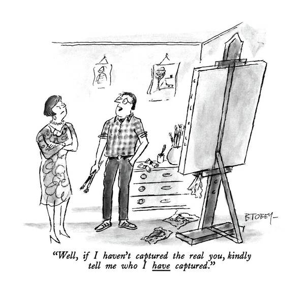 Interpretation Drawing - Well, If I Haven't Captured The Real You, Kindly by Barney Tobey