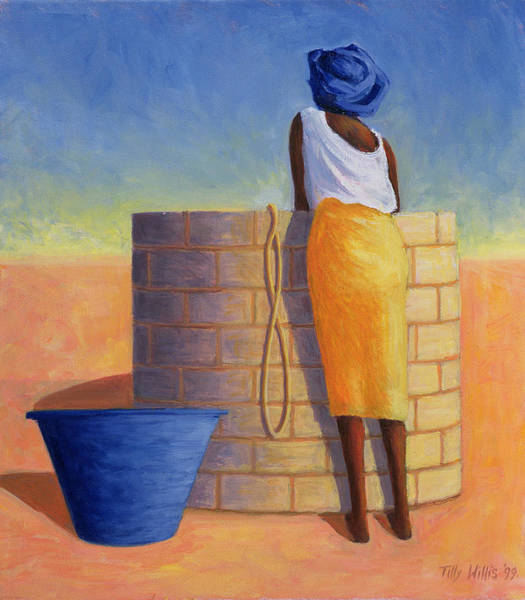 Wishing Well Painting - Well Woman, 1999 by Tilly Willis