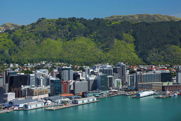 Central Business District Wall Art - Photograph - Wellington Cbd, Waterfront, And Te by David Wall
