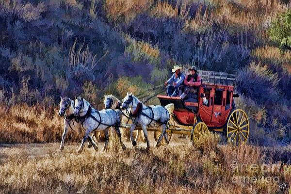 Stagecoach Photograph - Well's Fargo's Coming by Tommy Anderson