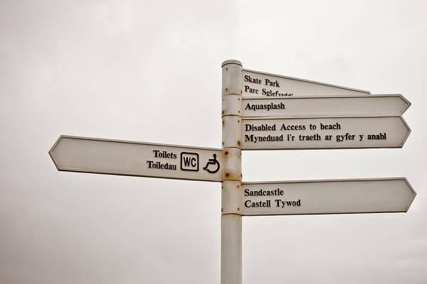 Language Photograph - Welsh Signs by Tom Gowanlock