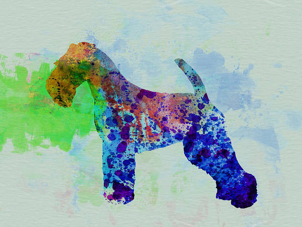 Terrier Painting - Welsh Terrier Watercolor by Naxart Studio