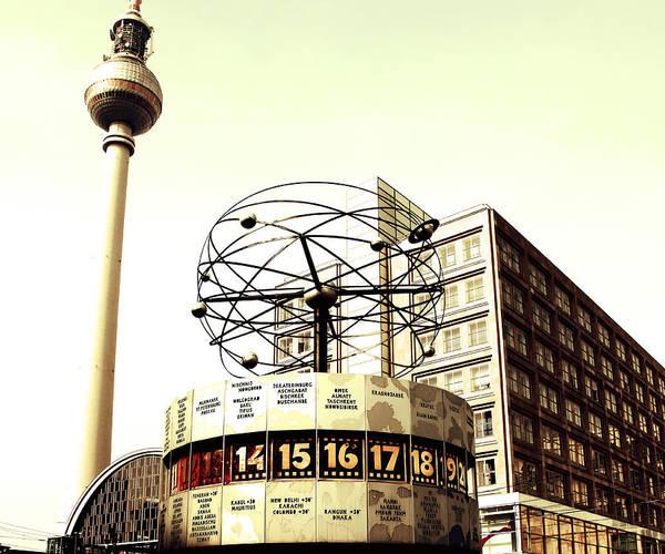 Fernsehturm Photograph - Weltzeituhr-fernsehturm-berlin by Falko Follert