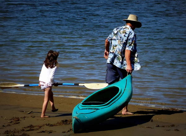 Wall Art - Photograph - We're Going For A Paddle by Peter Mooyman