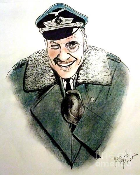 Wall Art - Drawing - Werner Klemperer As Col Klink On Hogans Heroes   by Jim Fitzpatrick