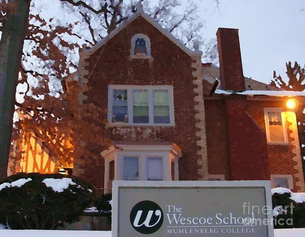 Muhlenberg Photograph - Wescoe School - Muhlenberg College by Jacqueline M Lewis