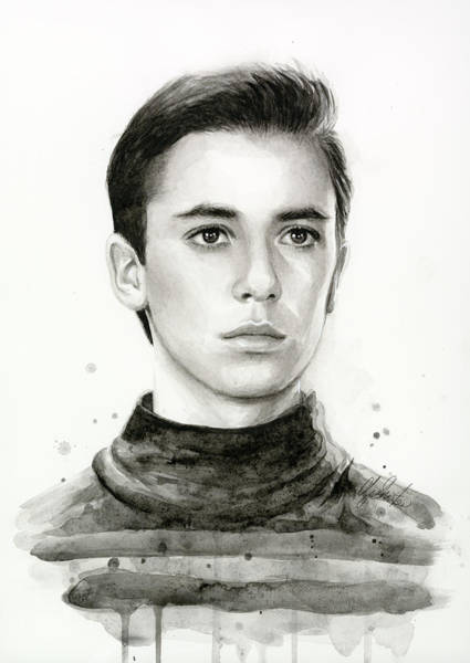 Star Painting - Wesley Crusher Star Trek Fan Art by Olga Shvartsur