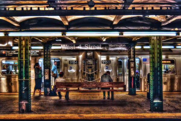 Underground Photograph - West 4th Street Subway by Randy Aveille