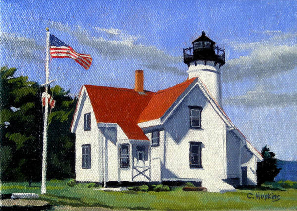 Wall Art - Painting - West Chop Lighthouse Martha's Vineyard Massachusetts by Christine Hopkins