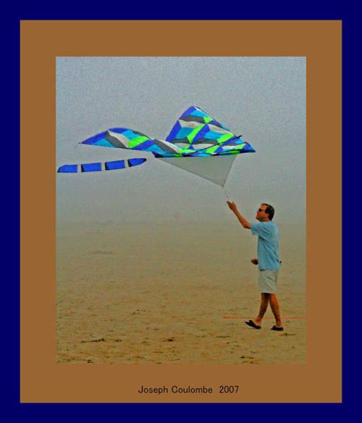 Morro Bay Digital Art - West Coast Beach Kites by Joseph Coulombe