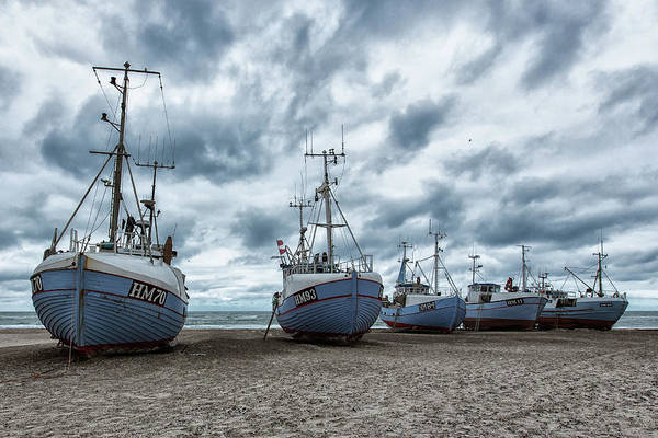 Low Tides Photograph - West Coast Fishing Boats. by Leif L??ndal