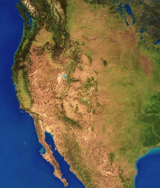 Us West Coast Photograph - West Coast Of America by Planetary Visions Ltd/science Photo Library