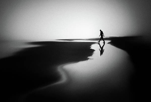 Silhouette Photograph - West Coast Reflections by Marianne Siff Kusk