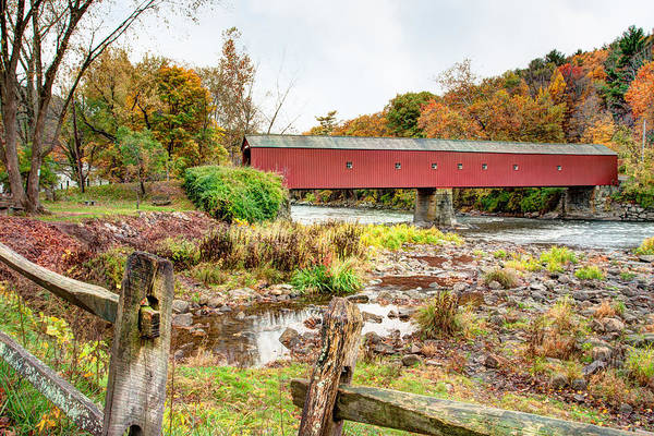 Photograph - West Cornwall Covered Bridge - Housatonic River  by Gary Heller