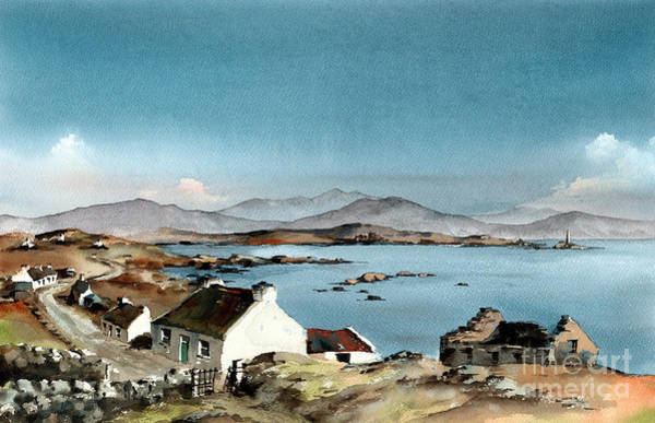 Painting - Galway West End Inisbofin Island  by Val Byrne