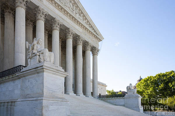 Photograph - West Front Of The Us Supreme Court Building On Capitol Hill In Washington Dc by William Kuta