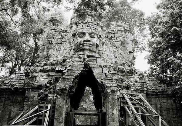 Photograph - West Gate At Angkor by Shaun Higson
