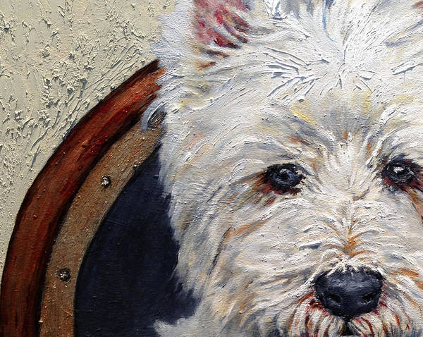 Wall Art - Painting - West Highland Terrier Dog Portrait by Portraits By NC