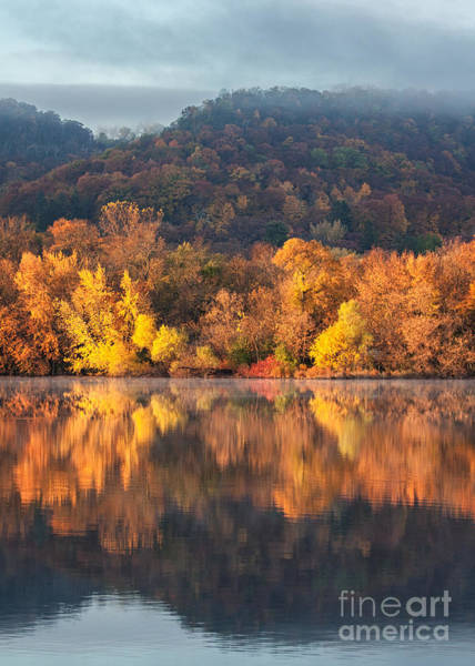 Photograph - West Lake Winona Orange Stripe by Kari Yearous