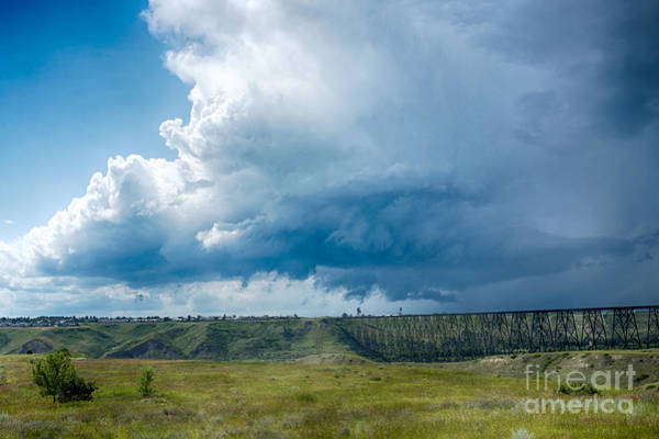 Photograph - West Lethbridge Storm by Trever Miller