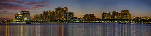 Photograph - West Palm Beach At Twilight by Debra and Dave Vanderlaan