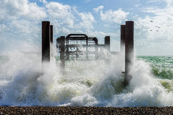 Photograph - West Pier Ruins by Chris Lord