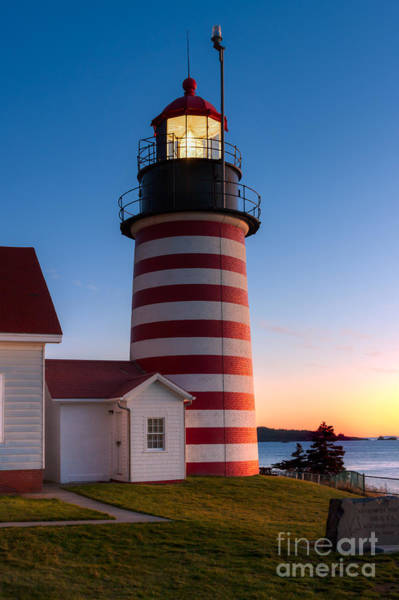 Photograph - West Quoddy Head Light At Dawn I by Clarence Holmes